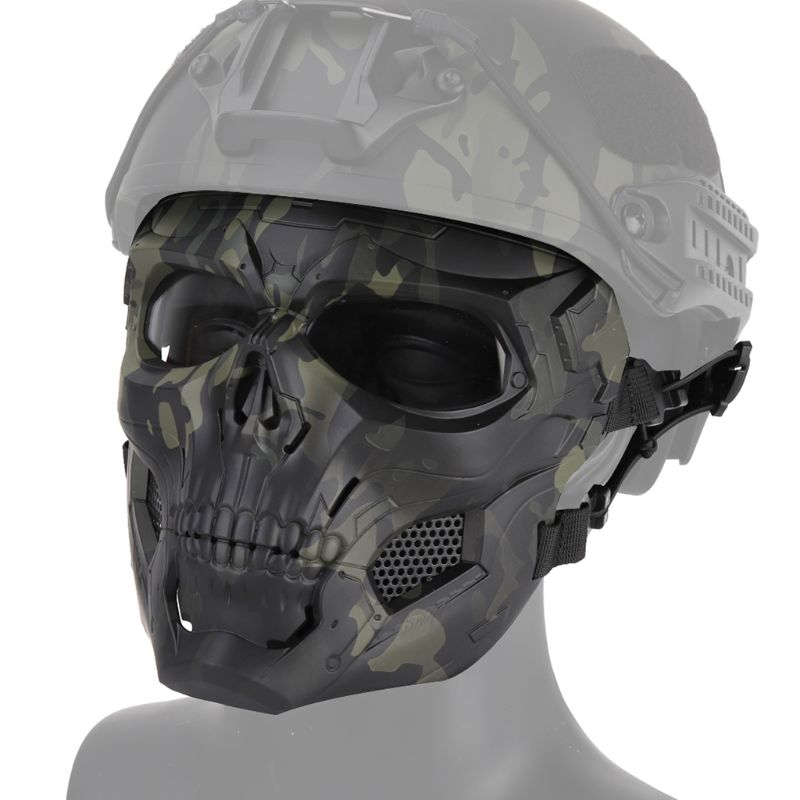 Outdoor Airsoft Paintball Full Face Mask Breathable Military Skull Helmet|Cycling Face Mask| |  - title=