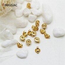 10 pçs/lote 3 tipos 14k banhado a ouro brinco backs acessórios para fazer jóias brinco embreagem