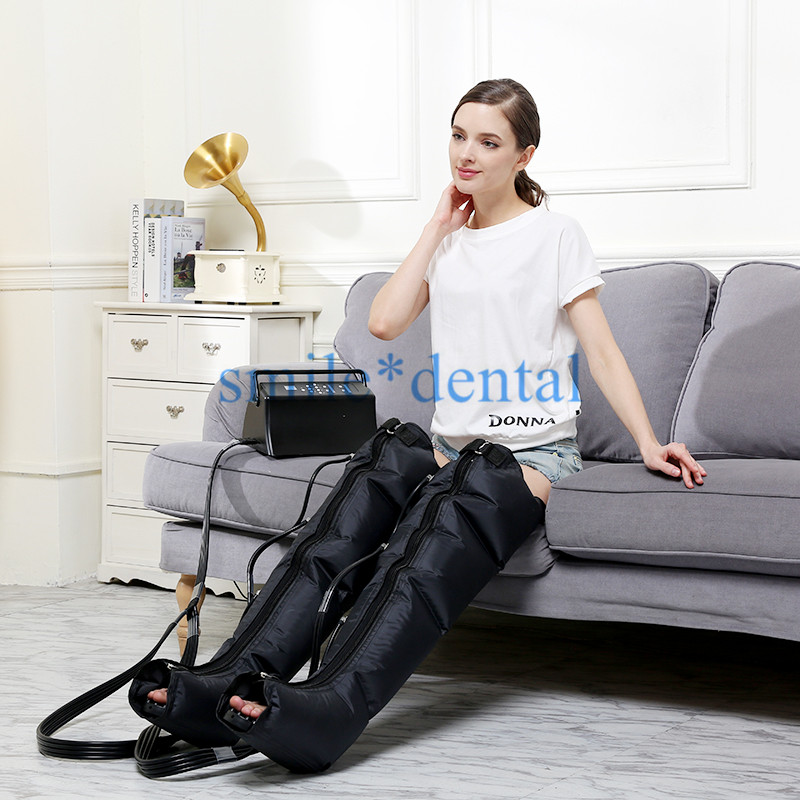 Infrared Therapy Air Compression Leg Massager Pneumatic Air Wraps Relax Pain Relief Arm Waist Circulation