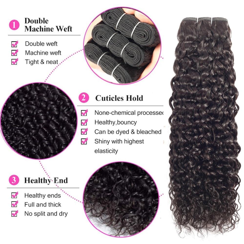 Beaudiva Hair Water Wave Bundles With Closure Curly  water wave bundles with closure    Bundles 5
