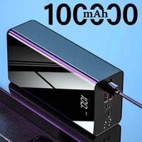 Banco de energía de 100000mAh para Xiaomi, Huawei, iPhone, Samsung, cargador portátil, paquete de batería externa