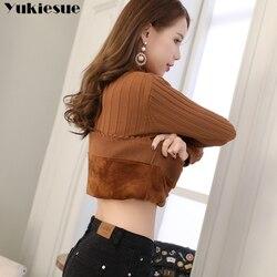 Модные свитера женские зимние вязаные свитера большого размера джемпер бархатная Подкладка толстый теплый пуловер свитер для женщин