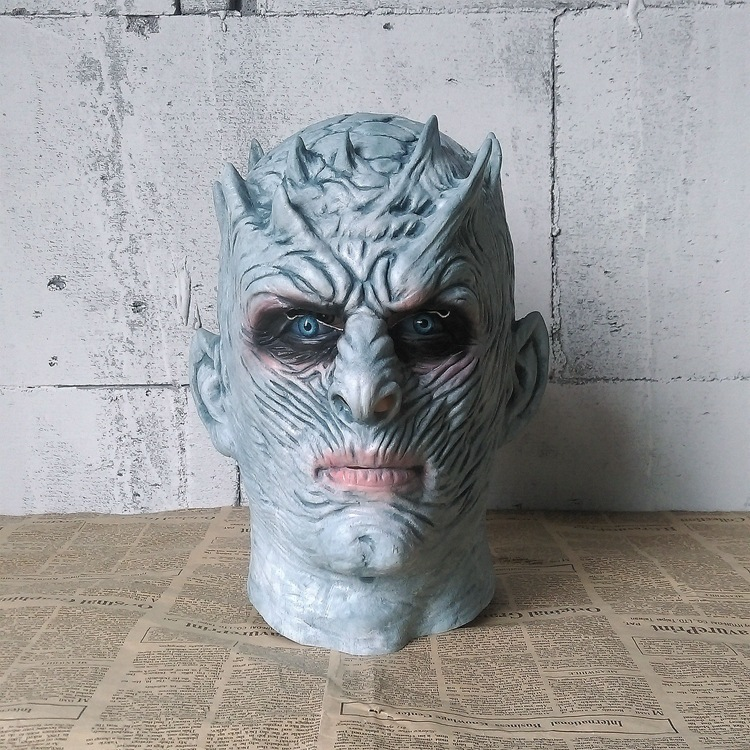 Game Of Thrones Of Game Cosplay White Walkers Night King Head Band Halloween Horror Haunted House Props Latex Mask