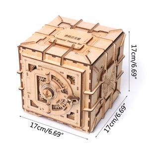 Image 5 - 3D חידות עץ סיסמא אוצר תיבת מכאני פאזל DIY התאסף דגם