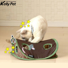Funny Pet Cat Mice Intelligence Educational Toys Play Bell Tent With 9 Holes Tunnel Supplies
