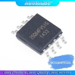 Image 1 - 100 יח\חבילה W25Q64FVSSIG SOP8 W25Q64 SOP 25Q64FVSSIG SMD W25Q64FVSIG 25Q64FVSIG SOP 8 molewei חדש ומקורי