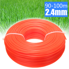 1 Roll 90m - 100m 2.4mm Lawn Mower String Nylon Trimmer Line Rope Garden Grass Replacement Thread Spool Random Color