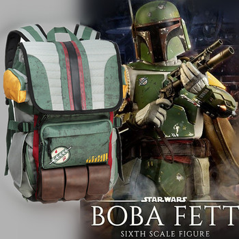 цена на The Mandalorian Backpack Boba Fett Cosplay Student School Bag Travel Bags Star Wars Outdoor Large Capacity Backpack Anime