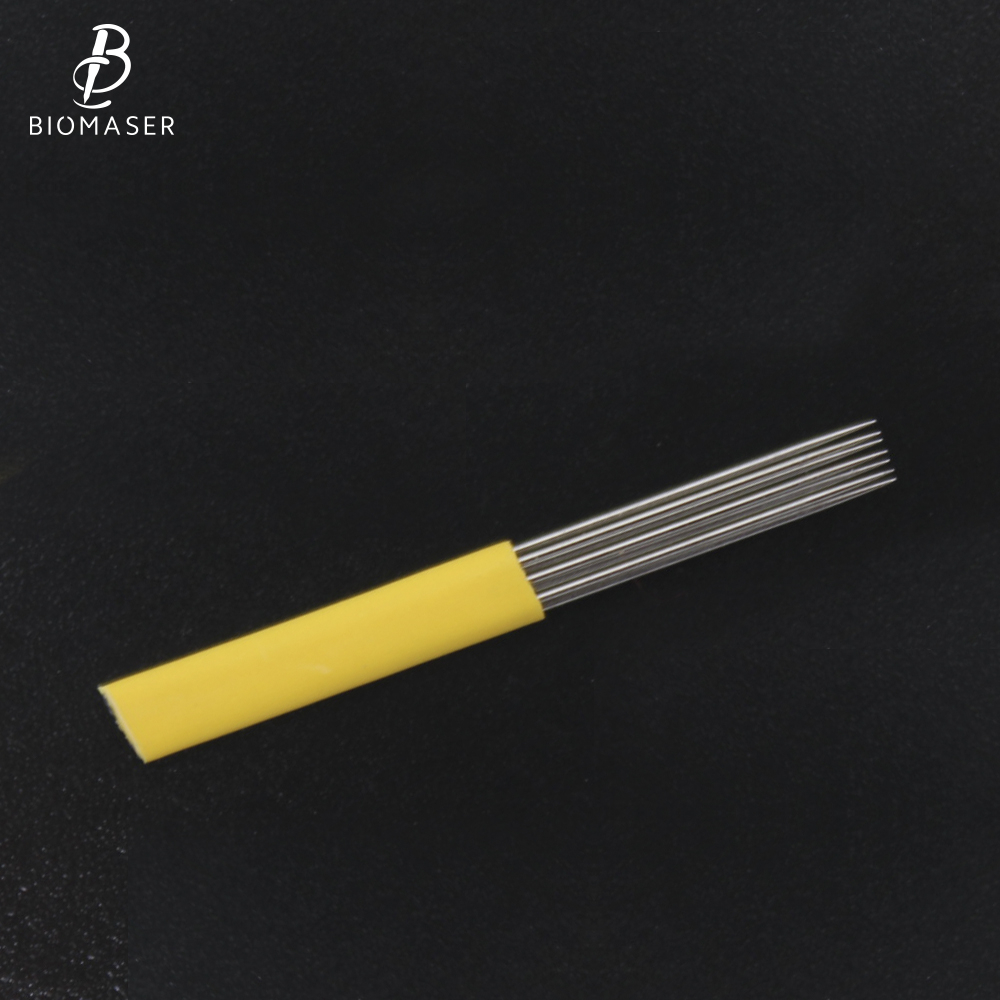 Biomaser Mix Professional Microblading Shading Blade Tattoo Needles Microblading Needle Fog Eyebrow Needles 12CF/7M1/4R/9M1/15M1