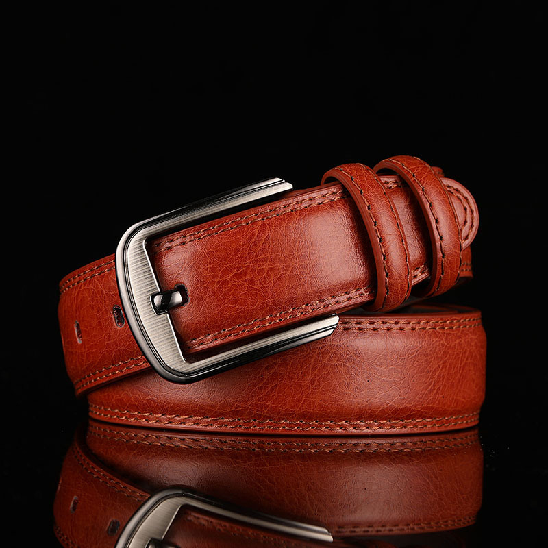 Men's Trouser Leather Belts High Quality Luxury Cowboy Business Strap Genuine Leather Golf Belts For Men Cowhide Male Waistband