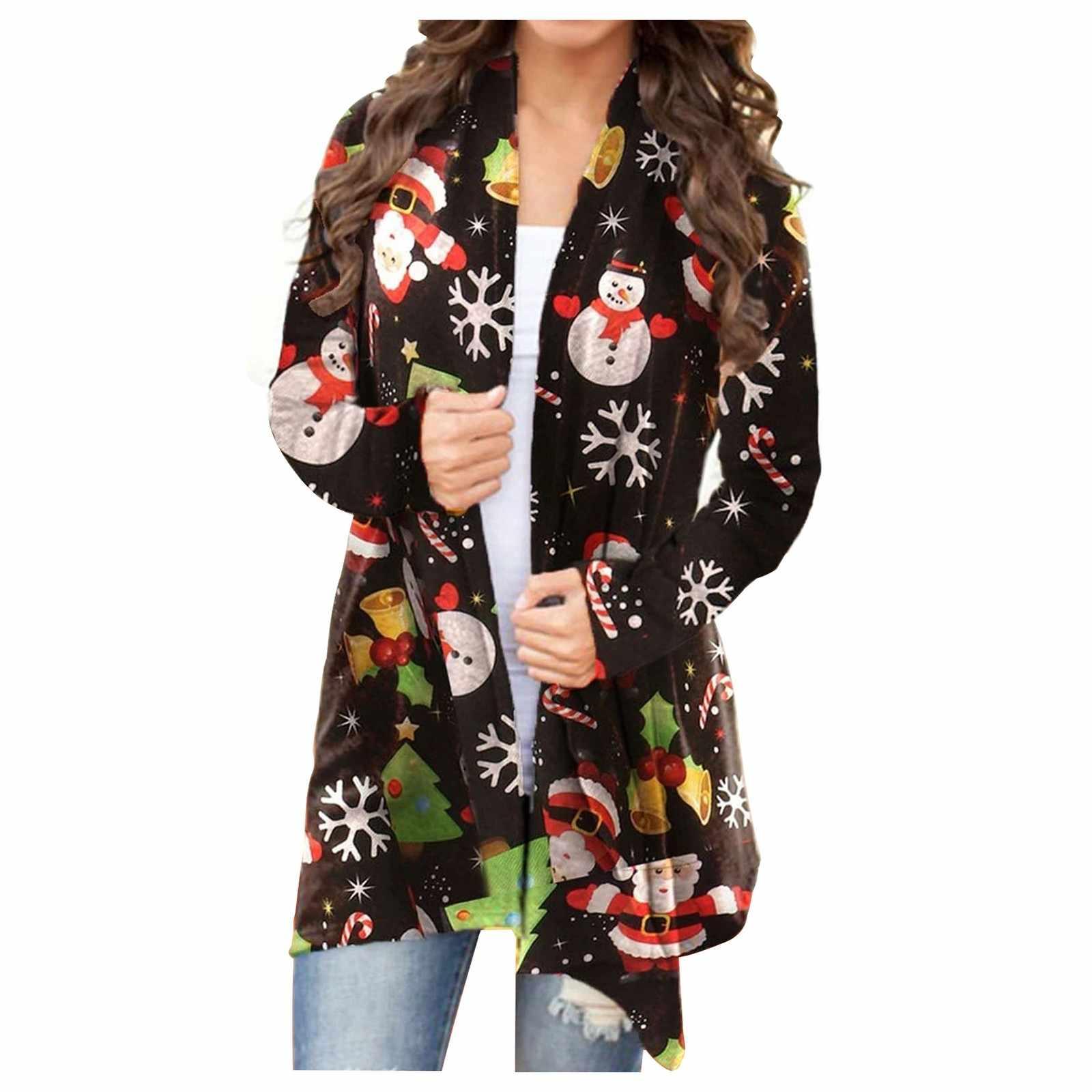Women Lovely Snowman Jacket Women Long Sweater Cardigans 2020 Winter Warm Vintage Jumper Coat Christmas T2g Aliexpress
