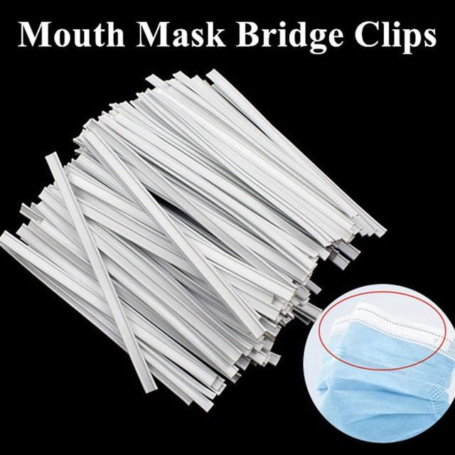 100pcs Dual Core Dedicated Nose Bridge Clips Disposable Face Mask Elastic Cord Adjustable Strap Elastic Mouth Mask Rubber Band