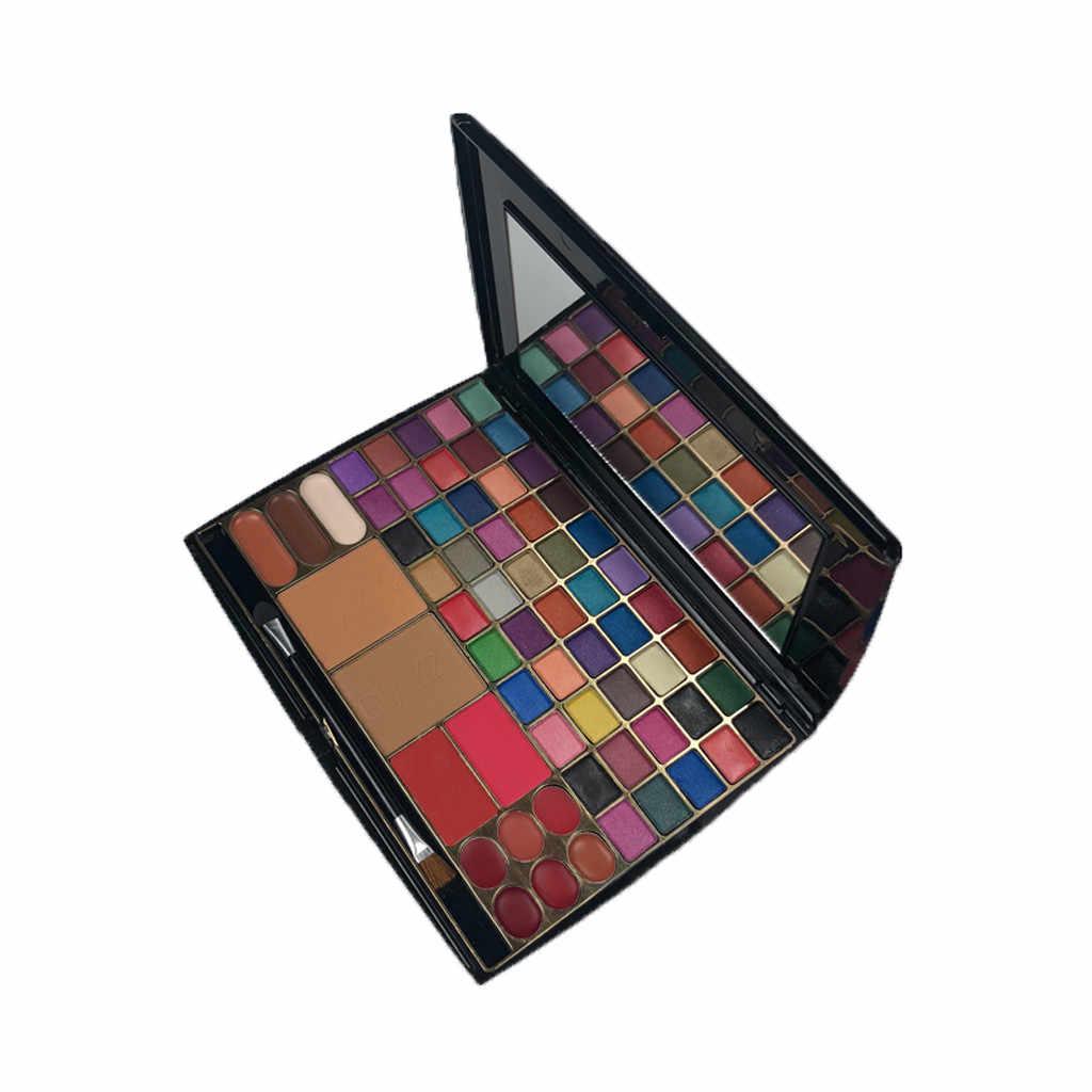 Eye Shadow Pallet 63 Warna Kosmetik Eyeshadow Cream Eye Shadow Palet Set Kuas Makeup Palet Maquillajes untuk Mujer Femme