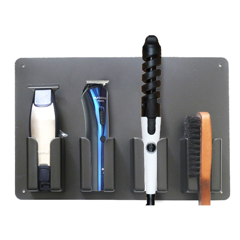 Wall-mounted Barber Hair Clipper Storage Rack Salon Accessories Holder Stand Tool