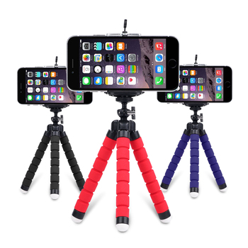 Mini Flexible Sponge Octopus Tripod for iPhone Samsung Xiaomi Huawei Mobile Phone Smartphone Gopro 9 8 7 6 5 Camera - discount item  29% OFF Camera & Photo