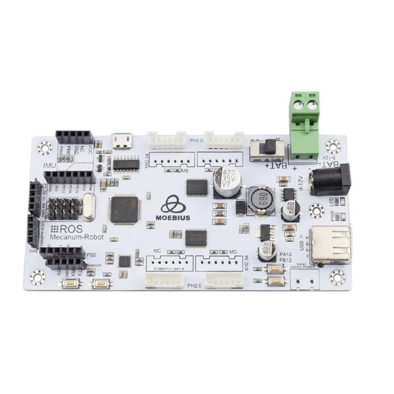 Stm32f103rct6 Mecanum Wheel Control Board PID Closed-Loop Motor Drive Omni Robotic Arm Open Source Ros Controller Oled