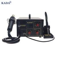 KADA 852D Doppel digital display heißluft station elektrische lötkolben station 2-in-1 BGA rework station telefon reparatur werkzeug