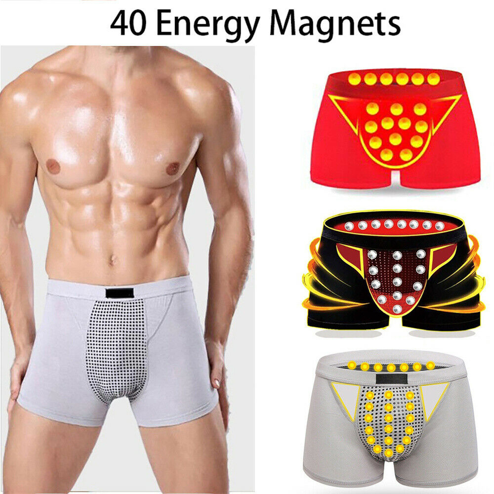 2020 Men Breathable Milk Silk Underwear Boxer Brief Shorts Bulge Pouch Male Sexy Magnetic Therapy Physiological Health Underpant
