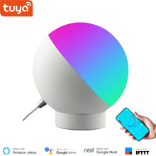 WiFi Remote Control Bedside Lamp,Desk Smart Light,Smartphone Control, Tuya Smart life APP Compatible With Alexa and Google Home