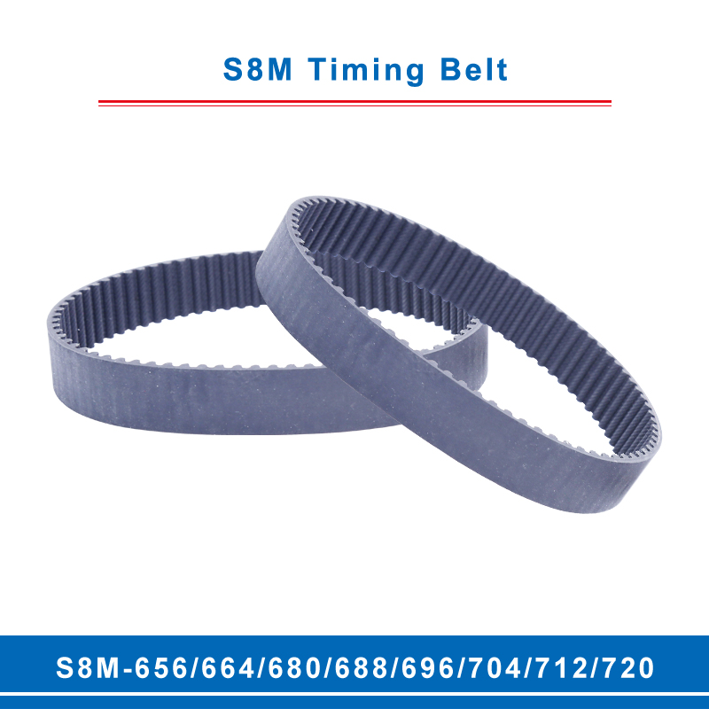 10mm Wide Industrial Timing Belt S8M-400//408//424//464//480//496//512//520//560//568//584