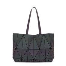 Luxury Brand Designers Geometric Rhombic Female Handbag Fashion Luminous Folding Designer Shoulder Bags for Women
