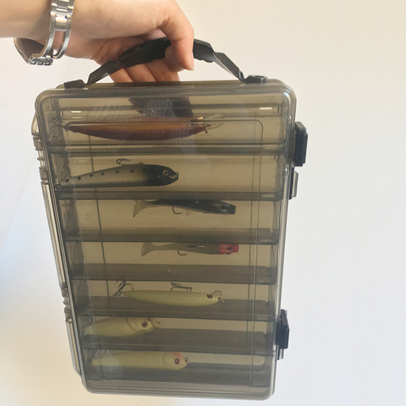 Large capacity Fishing Tackle Box Double decker Sub bait Box Portable Bait Fishing Gear Storage Box|Fishing Tackle Boxes| - AliExpress