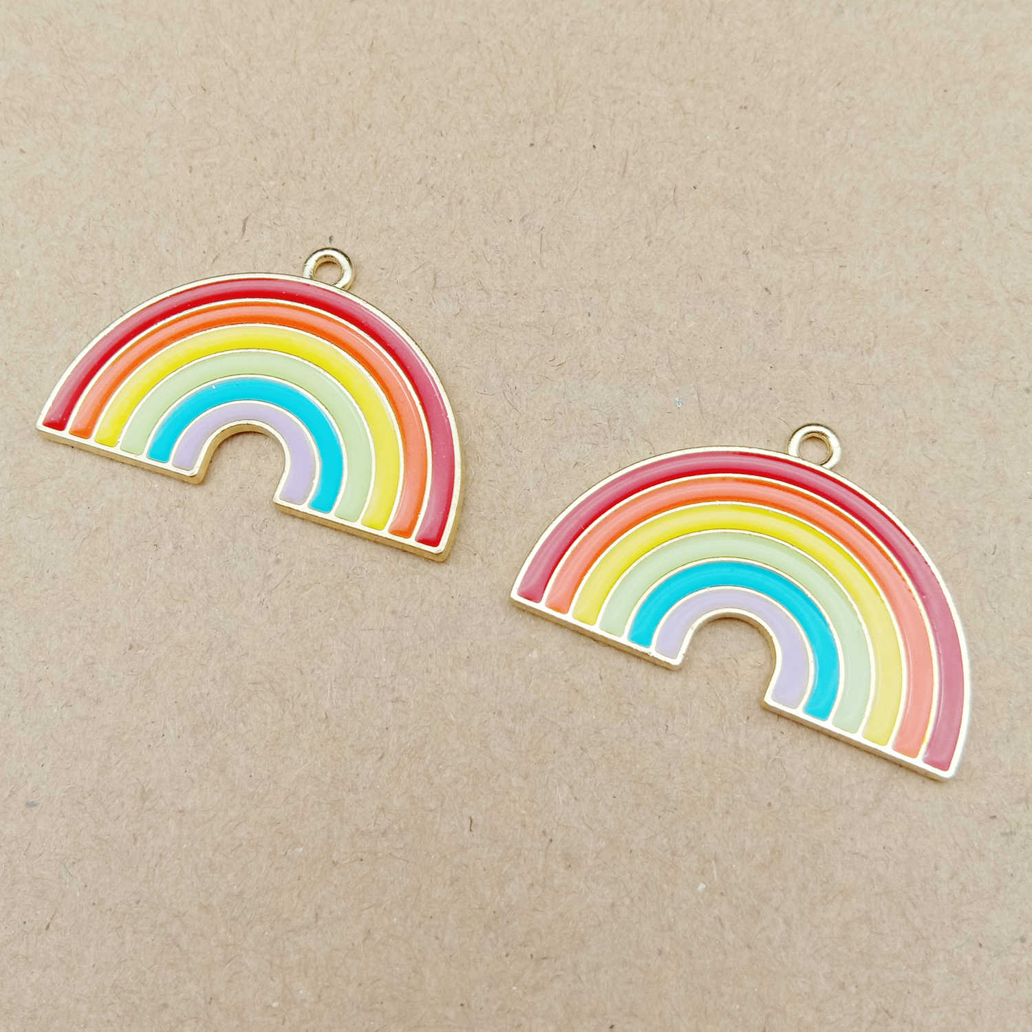 10pcs 20x31mm enamel rainbow charm for jewelry making and crafting earring pendant fashion charm bracelet charm