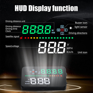 Image 2 - Universal A3 Auto GPS HUD Heads Up Display digital Car Accessories  Electronics  Digital Speedometer Water Temperature Alarm