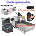 Grado industriale Router di CNC 6040 Macchina Per Incisione 2.2KW Viti A Sfere di Legno di Alluminio di Rame Metallo di Fresatura Per Incidere Macchina di Taglio
