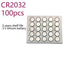 """100 sztuk 3V CR2032 litowy przycisk jednostki baterii BR2032 DL2032 CR2032, proszę kliknąć na przycisk """" ogniwo monety BatteriesFor zegarki zegary kalkulator"""