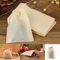 100 шт./лот чайные пакеты, фильтрующие бумажные пакеты, пустые чайные пакеты на шнурке для травяного чая