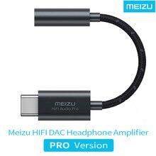 Adaptador de áudio meizu dac, amplificador de fones de ouvido pro tipo c para 3.5mm cirrus e ti super de dois estágios amplificador lossless 32bit/384k
