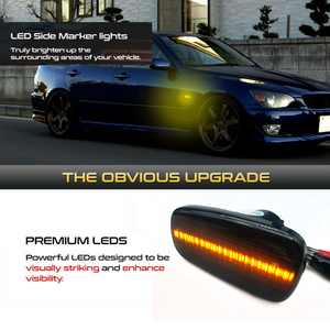 Image 2 - LED Side Marker Turn Signal Light Indicator Lamp For Prius NHW20 Kluger Wish Land Cruiser Altezza Lexus IS300 200 LS430 Scion xB