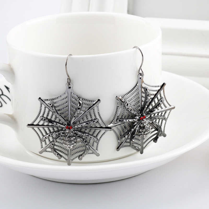 Fashion Halloween Earring Big Round Circle Hollow Spider web Earrings Drop Dangle Festival Party Charm Gift For Girls Jewelry-15