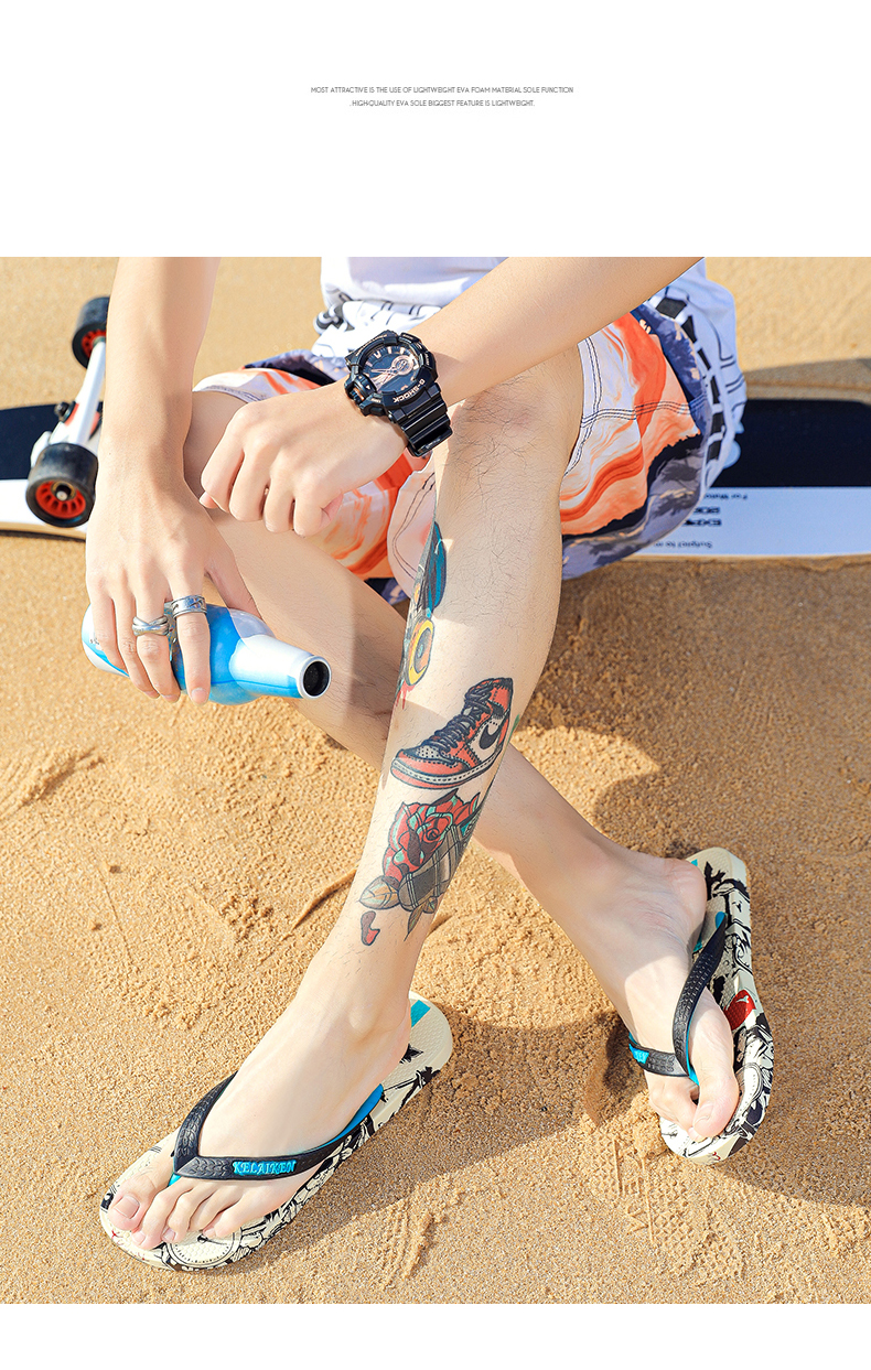 H7d15d86457d94a5bb11df11060f66c86V - VESONAL Summer Graffiti Print Slippers Men Shoes Flip Flops Slipers Male Hip Hop Street Beach Slipers Casual Flip-flops