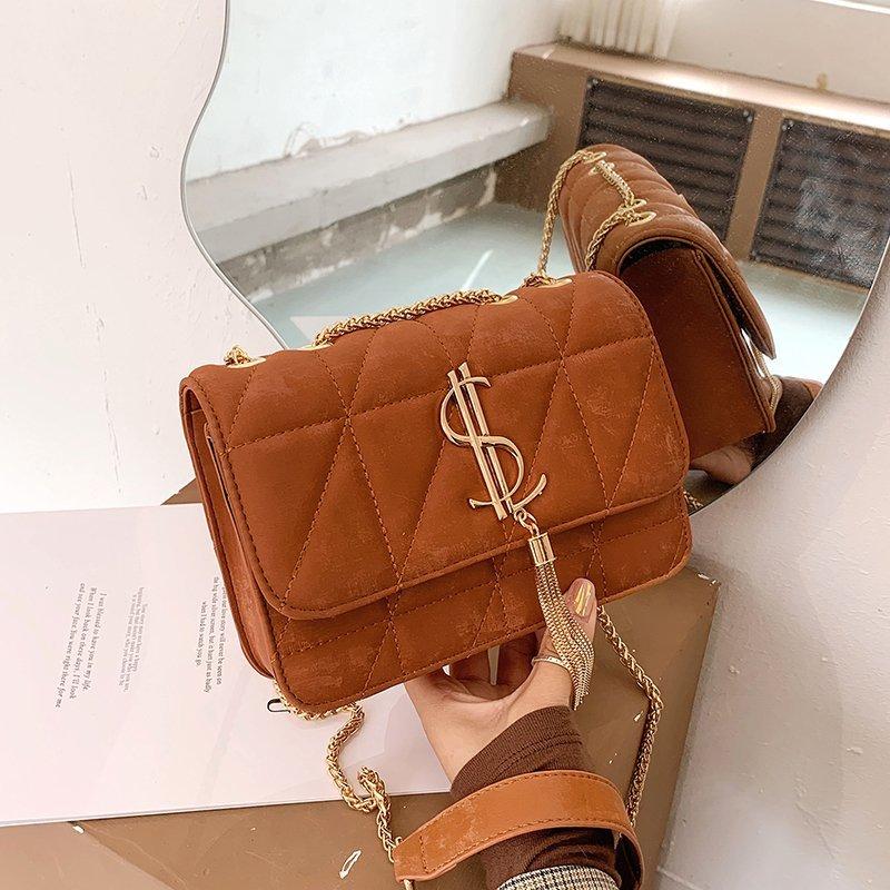 Handbags Women's Bag Designer Crossbody Bags for Girls 2020 Ladies Tassel Shoulder Bag Square Flap Bags Sac Main Femme