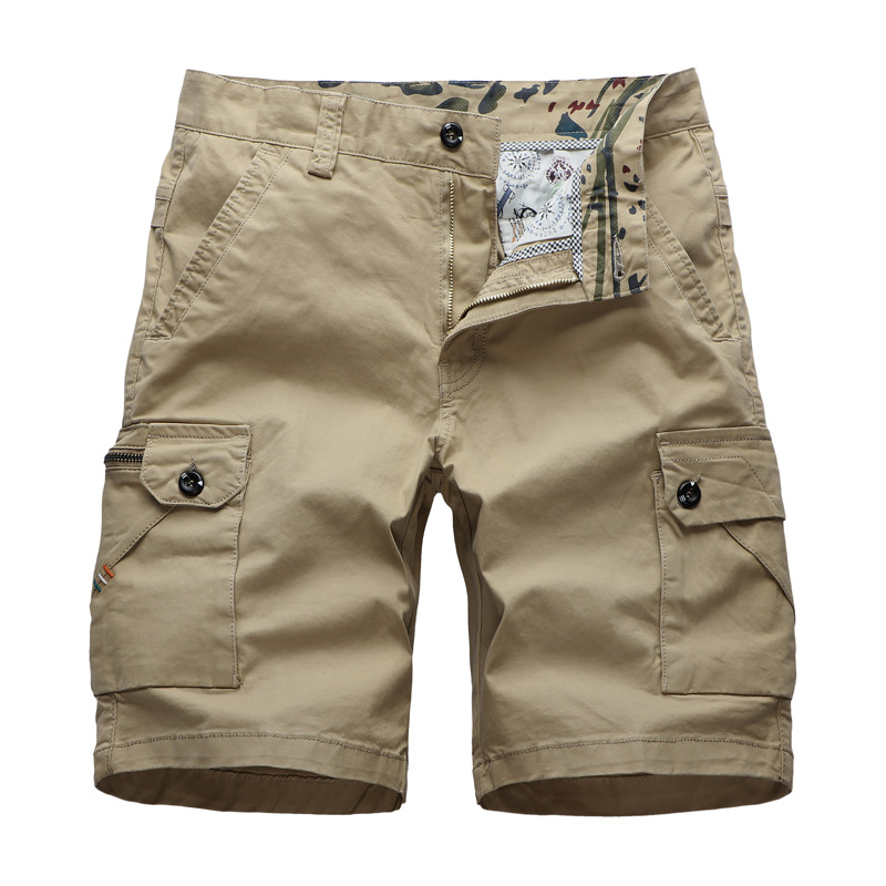 GustOmerD 2020 New Men's Cargo Pants Casual Loose Shorts Solid Color Fashion Multi Pocket Shorts Men