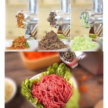 18 electric meat sausage stuffer stainless steel meat grinder vegetable potato fruit cutting machine commercial sausage filler Electric Meat Grinders 2800W Stainless Steel Powerful Electric Grinder Sausage Stuffer Meat Mincer Slicer for Kitchen