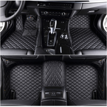 5 seat For ems  leather car floor mats fit 98% car model for Toyota Renault Kia Volkswage Honda BMW BENZ accessories foot mats 1