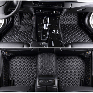5 seat For ems leather car floor mats fit 98% car model for Toyota Renault Kia Volkswage Honda BMW BENZ accessories foot mats(China)