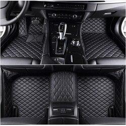 Flash mat de coche de cuero alfombras de piso fit 98% modelo de coche para Toyota Lada Renault Kia Volkswage Honda BMW BENZ accesorios pie esteras