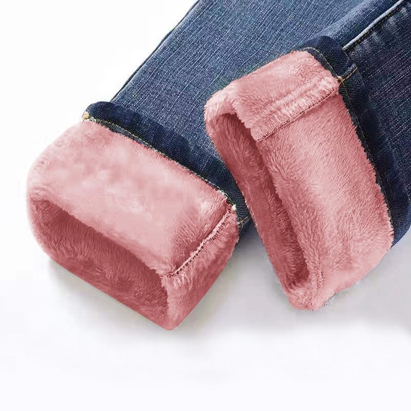Winter Fleece Jeans For Women High Waist Thickening Jean 2019 Skinny Slim Denim Pencil Pants Fashion Warm Jean Streetpant P9185