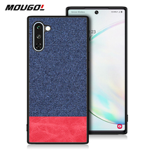 For Samsung Note 10 Plus Phone Case Shockproof Back Cover Cloth Fabric Silicone Soft Edge Protect Case Fabric For Samsung Note10 x level case for samsung galaxy note 10 original liquid silicone back phone cover for samsung note 10 plus case note10