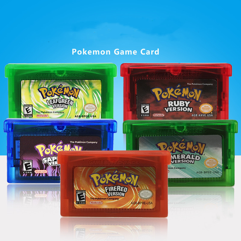 Pokemon GBA Game Card Series Video Game Cartridge Console Card English Language NDSL GB GBC GBM GBA SP