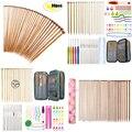 Набор бамбуковых спиц для вязания, 2,0-10,0 мм, 25 см, 35 см, 36 шт.