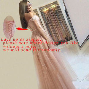 Image 3 - Eleganckie suknie wieczorowe Off the shoulder długie w magazynie formalne suknie na przyjęcie zasznurować/zamek vestidos de noite robe longue