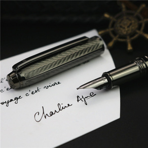 Image 3 - Girl new style fountain pen Office writing  New concept wavy texture ink pen 4 colors can choose with or without  boxes