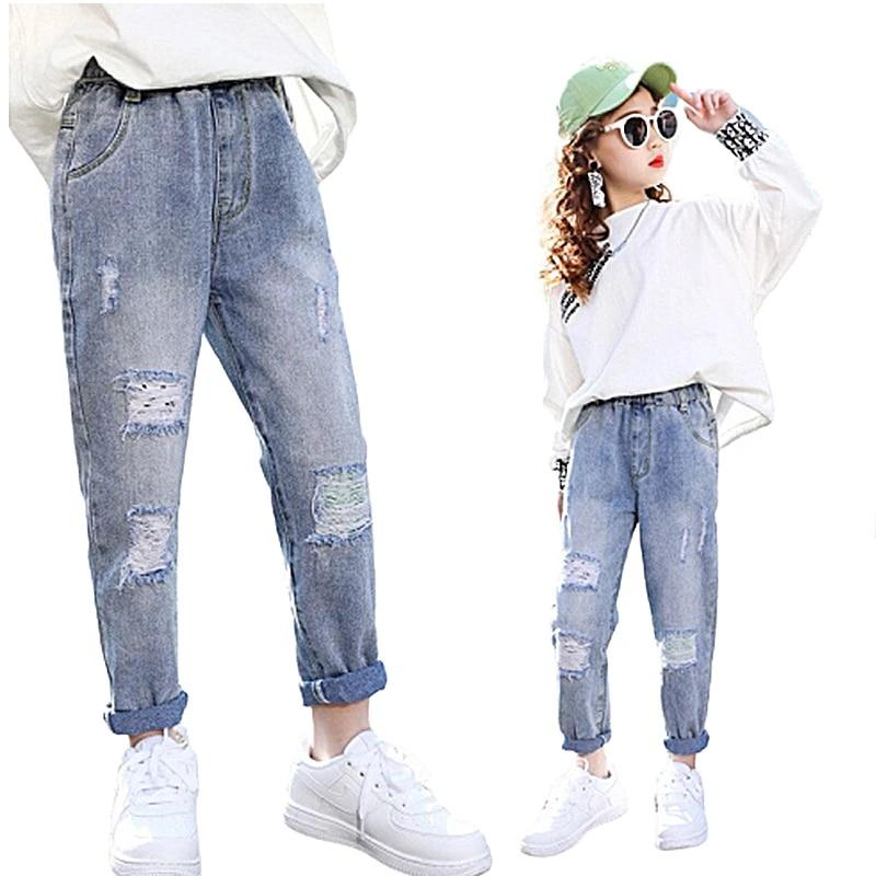 De Moda Agujero Roto Los Ninos Pantalones Vaqueros Para Ninas Primavera Pantalones De Mezclilla Ninas Para Ninas Casual De Moda Vaqueros Ninos Pantalones Pantalones Vaqueros Aliexpress