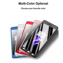 360 Ultra Thin Full Protective Phone Case For Oneplus 5 One Plus 7 Slim Hard PC Covers With Tempered Glass Film Fundas