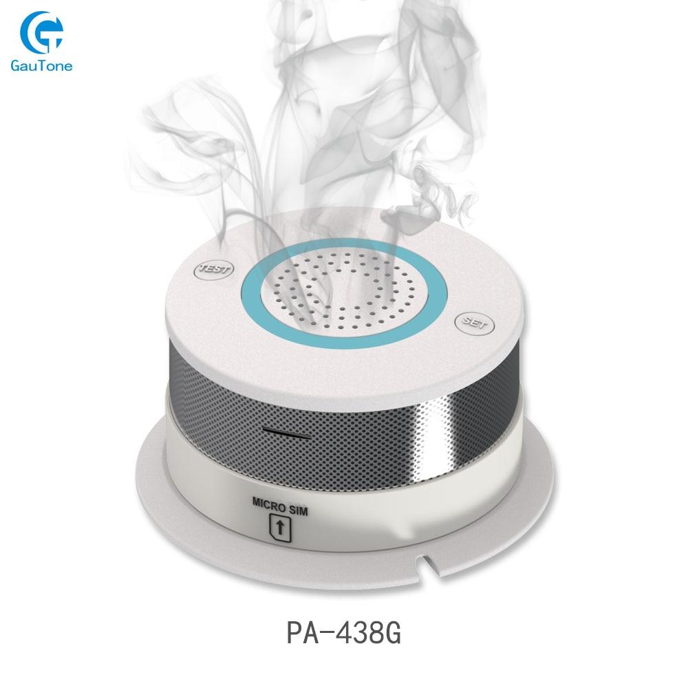 Frete Grátis GSM/GPRS Rede Detector De Fumaça de Incêndio Alarme De Fumo Sem Fio Detector Sensível Sensor de Segurança Em Casa Equipamentos de Incêndio